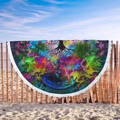 Tree Of Life Lightweight Beach Towel-Tree Of Life-Little Squiffy