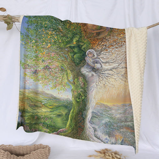 Tree Of Four Seasons Deluxe Minky Blanket-Josephine Wall-Little Squiffy