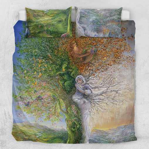 Tree Of Four Seasons Quilt Cover Set