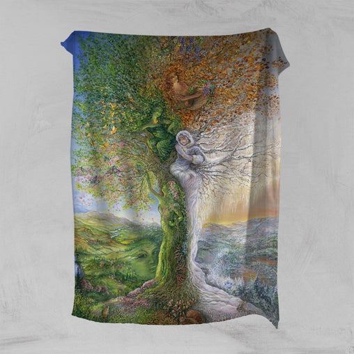 Tree Of Four Seasons Squiffy Minky Blanket-Josephine Wall-Little Squiffy