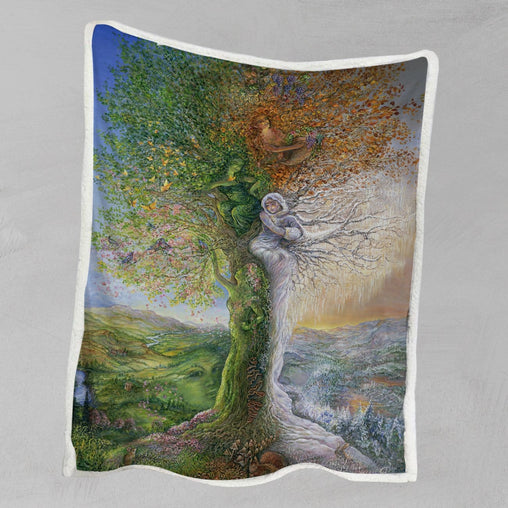Tree Of Four Seasons Blanket-Josephine Wall-Little Squiffy