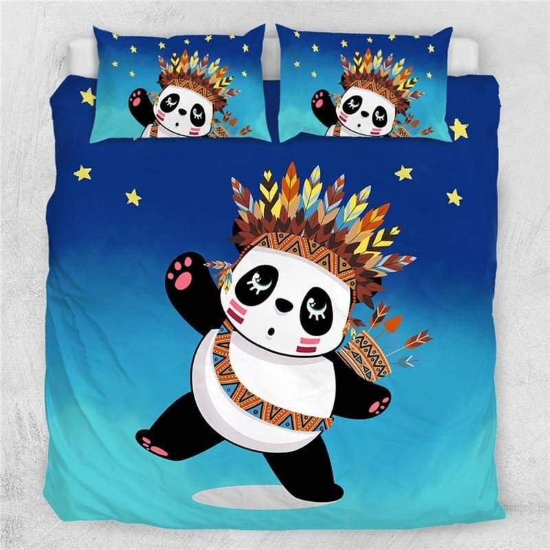 Tribal Panda Quilt Cover Set-Little Squiffy