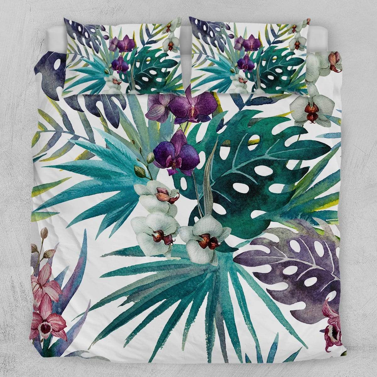 Tropical Orchid Quilt Cover Set-Tropical Hibiscus-Little Squiffy