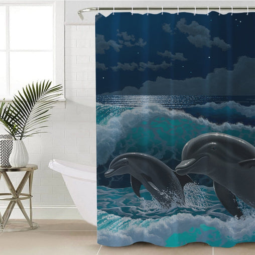 Two To Tango Shower Curtain-Schim Schimmel-Little Squiffy