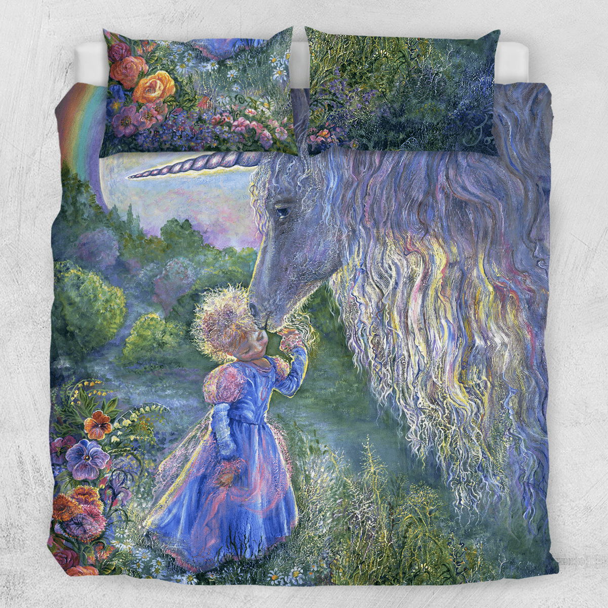 Unicorn Kiss Quilt Cover Set-Josephine Wall-Little Squiffy