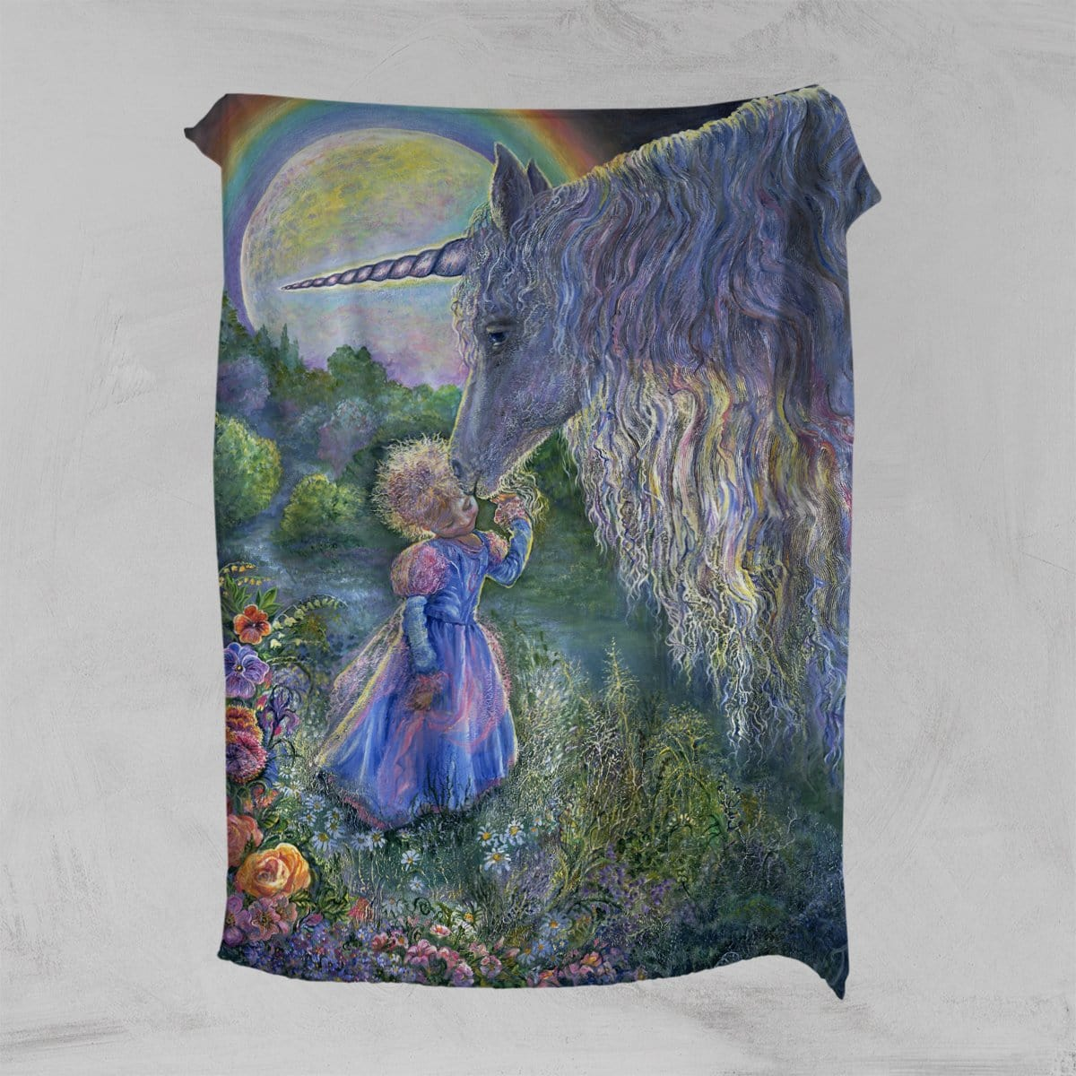 Unicorn Kiss Squiffy Minky Blanket-Josephine Wall-Little Squiffy