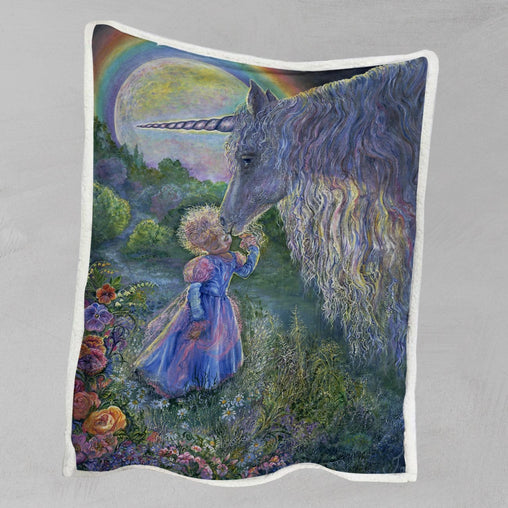 Unicorn Kiss Blanket-Josephine Wall-Little Squiffy