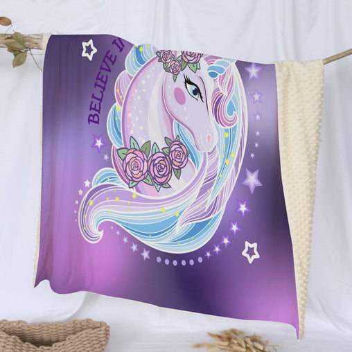 Unicorn Magic Deluxe Minky Blanket-Unicorn Magic-Little Squiffy