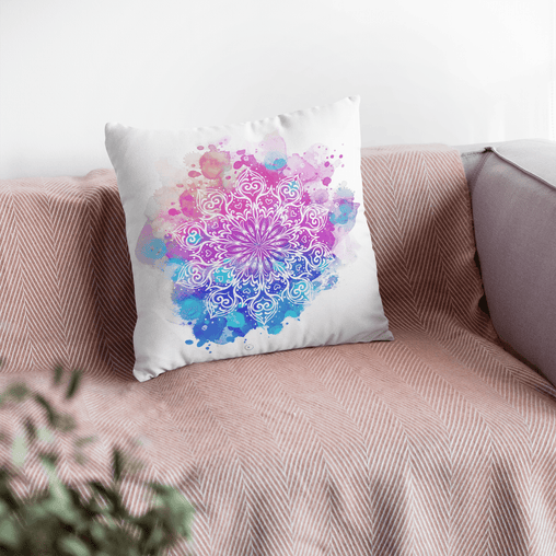 Watercolour Mandala Cushion Cover-Watercolour Mandala-Little Squiffy