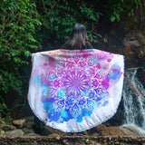 Watercolour Mandala Lightweight Beach Towel