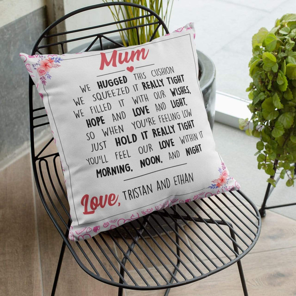 We Hugged This Personalised Cushion Cover