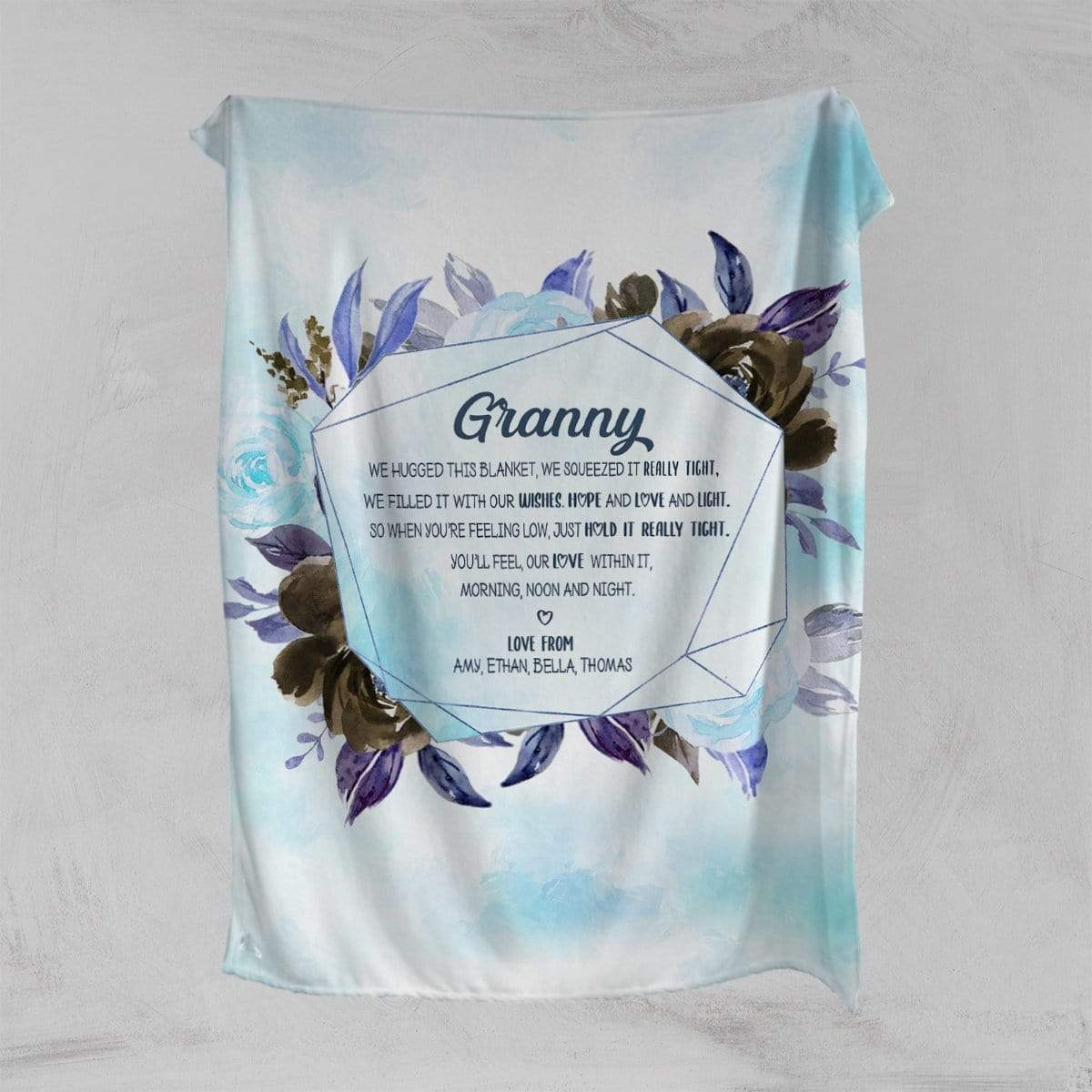 We Squeezed It Tight Personalised Squiffy Minky Blanket-Personalised-Little Squiffy