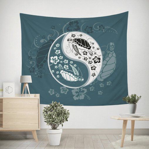 Yin Yang Sea Turtles Tapestry-Yin Yang Sea Turtles-Little Squiffy