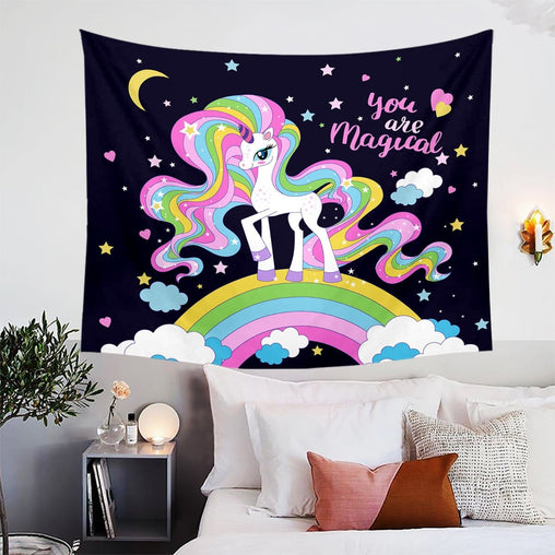 You Are Magical Unicorn Tapestry-You Are Magical Unicorn-Little Squiffy