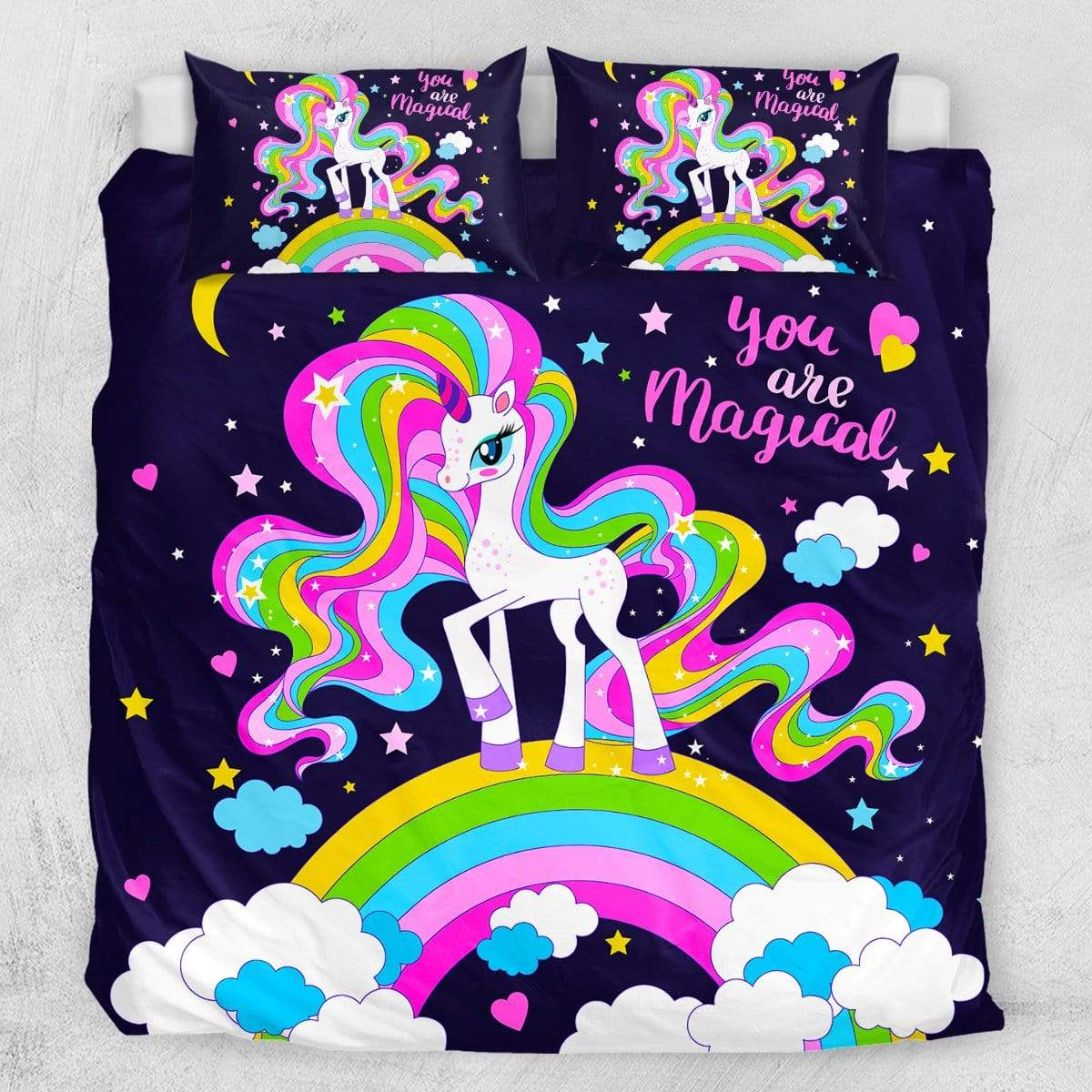 You Are Magical Unicorn Quilt Cover Set-You Are Magical Unicorn-Little Squiffy