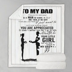 You Are Appreciated Dad Personalised Blanket-Personalised-Little Squiffy
