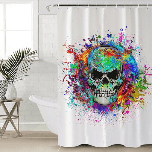 Skull Of Eternity Shower Curtain-Skull Of Eternity-Little Squiffy