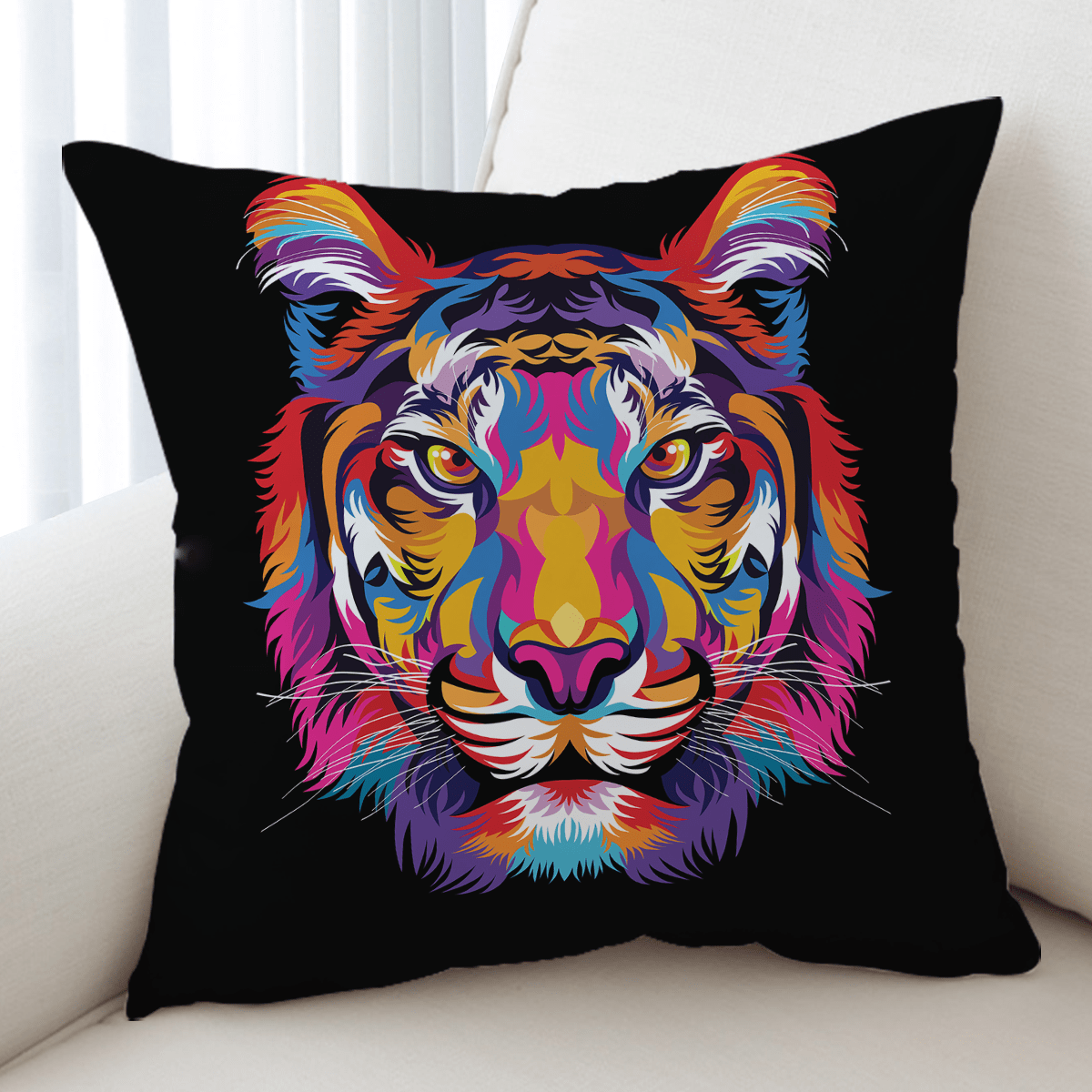 Bright Tiger Cushion Cover-Bright Tiger-Little Squiffy
