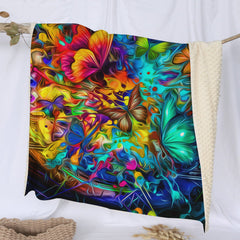Butterfly Burst Deluxe Minky Blanket-Butterfly Burst-Little Squiffy