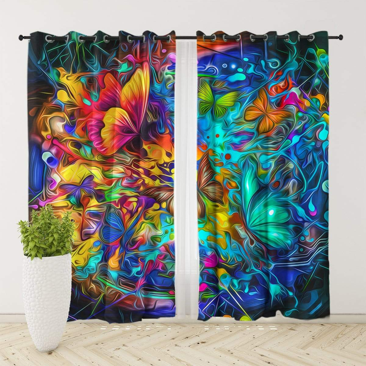 Butterfly Burst Curtain Set-Butterfly Burst-Little Squiffy