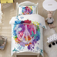 Butterfly Peace Quilt Cover Set