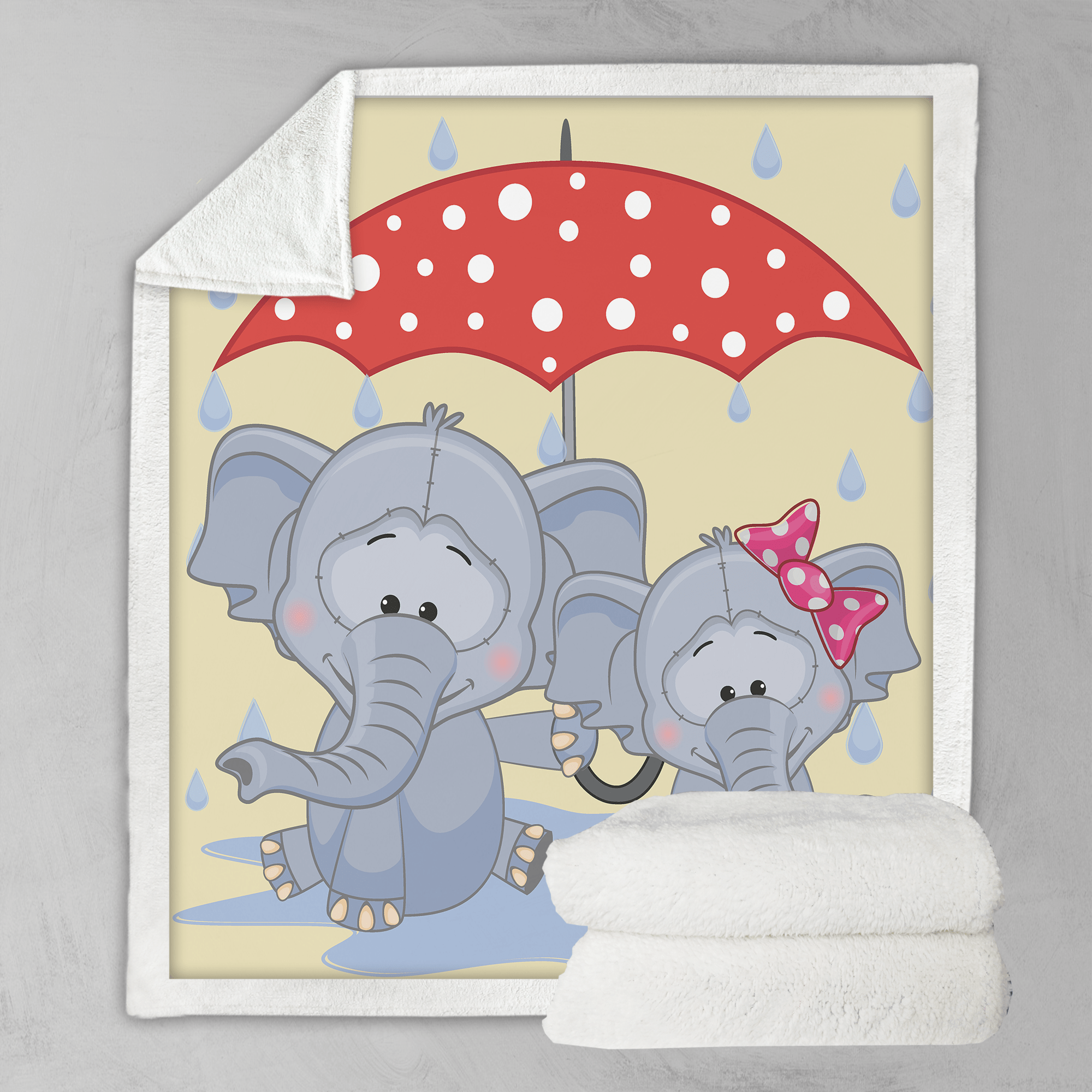 Umbrella Animals - Elephants Blanket-Umbrella Animals - Elephants-Little Squiffy