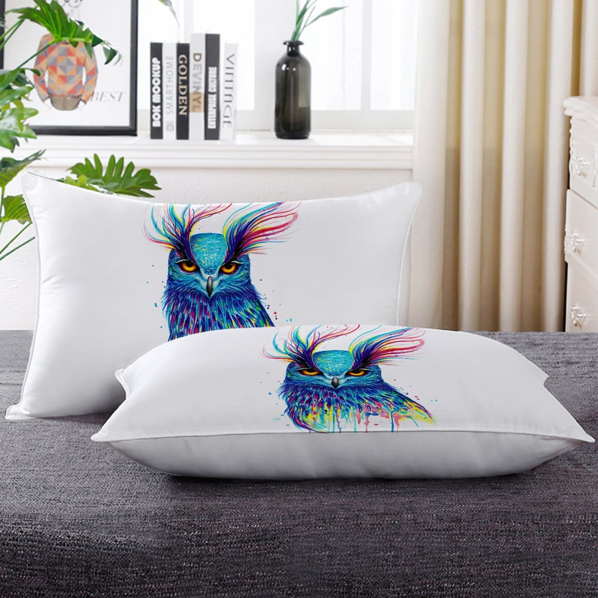 Into The Blue Owl Pillow Cases-Little Squiffy
