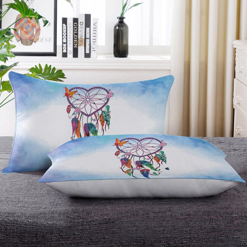 Blue Heart Dreamcatcher Pillow Cases-Little Squiffy