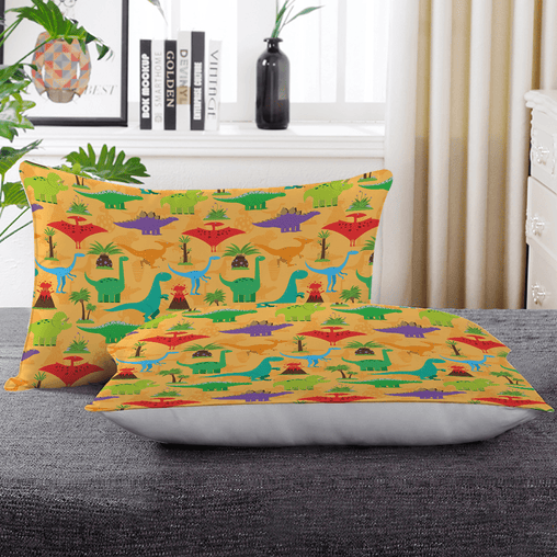 Dinosaur Mania Pillow Cases-Dinosaur Mania-Little Squiffy