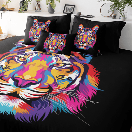 Bright Tiger Quilt Cover Set-Bright Tiger-Little Squiffy