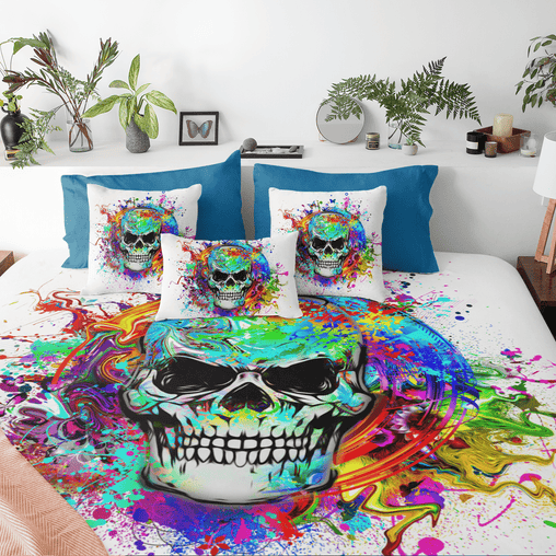 Skull Of Eternity Quilt Cover Set-Skull Of Eternity-Little Squiffy