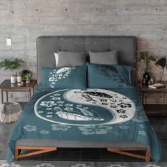 Yin Yang Sea Turtles Quilt Cover Set