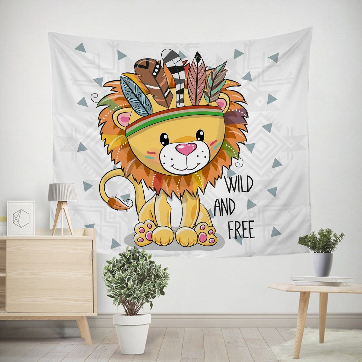 Wild and Free Cub Tapestry-Little Squiffy