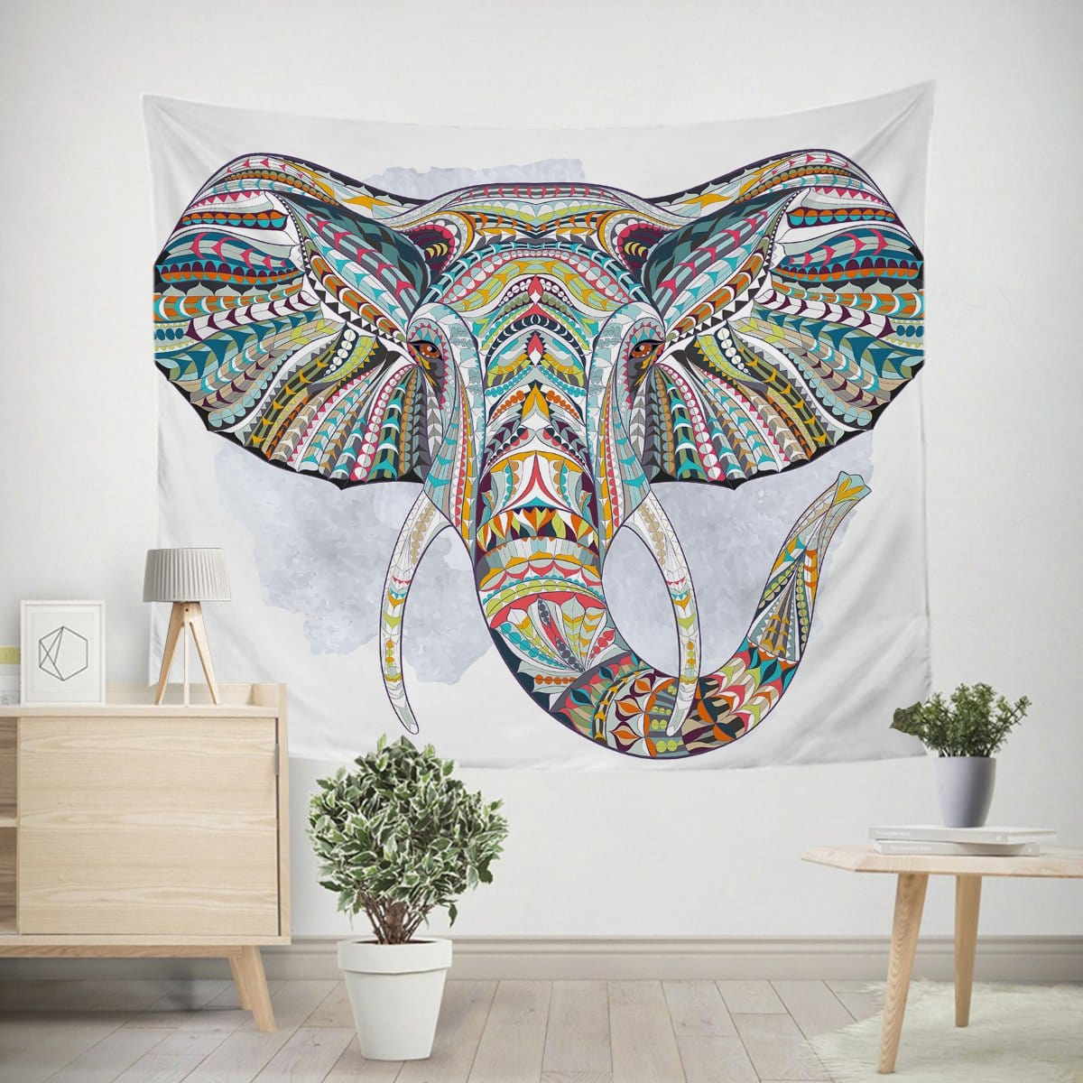 Elephant Bohemia Tapestry-Little Squiffy