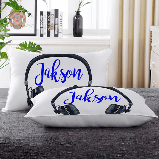 Headphone Personalised Pillow Cases-Custom Design Personalised-Little Squiffy