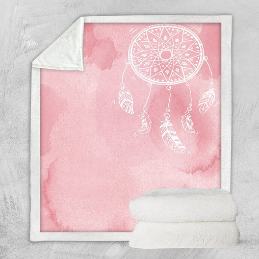 Bahaman Sea Pink Dreamcatcher Blanket-Bahaman Sea Pink Dreamcatcher-Little Squiffy