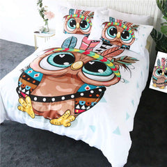 Cartoon Owl Quilt Cover Set-Little Squiffy