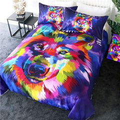 Bright Husky Quilt Cover Set-Little Squiffy