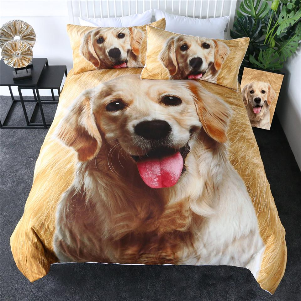 Golden Retriever Quilt Cover Set-Little Squiffy