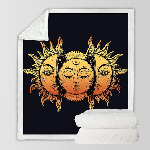 Sun And Moon Blanket-Sun And Moon-Little Squiffy