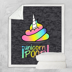 Unicorn Camo Poop Blanket-Unicorn Camo Poop-Little Squiffy