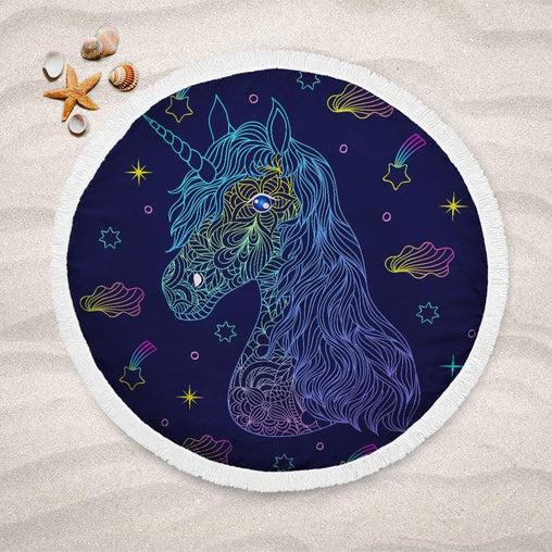 Unicorn Wonderland Lightweight Beach Towel-Unicorn Wonderland-Little Squiffy