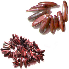 Load image into Gallery viewer, Semi-precious Red River Creek Jasper ~9-26x2-6mm Spikes genuine natural stone - 10 beads