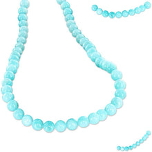 Load image into Gallery viewer, Rare Amazonite Peru round 7-8mm Blue hand-cut smooth stone - 10 beads