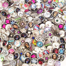 Load image into Gallery viewer, Snap Buttons 12mm metal, crystals & limited glass round ginger U PICK quantity