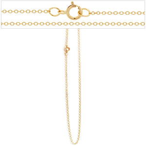 14k gold-filled necklace 18 inch flat 1.3mm cable jewelry chain
