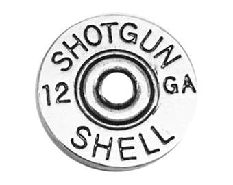 Snap Buttons 18mm metal round Shotgun Shell 12 ga guage flat