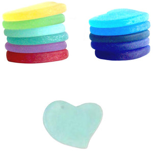 Cultured Sea Glass 30mm Heart focal pendant love bead - U PICK color