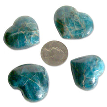 Load image into Gallery viewer, Madagascar Blue Apatite stone heart crystal healing reiki Chakra