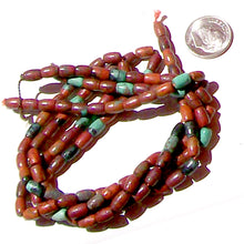 Load image into Gallery viewer, Rare Sonoran Sunrise Cuprite Mexico 4x6mm tapered barrel stone beads - 7""